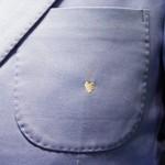 ハートモチーフ│刺繍│胸ポケット